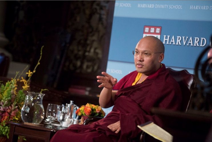 His Holiness, the 17th Karmapa gave a talk at Harvard about caring for life on earth.