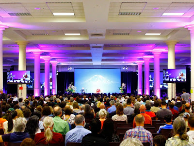 Over 1600 people filled the Exhibition Hall at Seattle Center for the Karmapa's teaching on compassion in action.